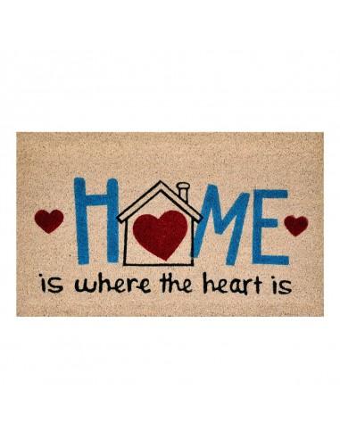 """Zerbino """"Home"""" con cuore cm 45x75..."""