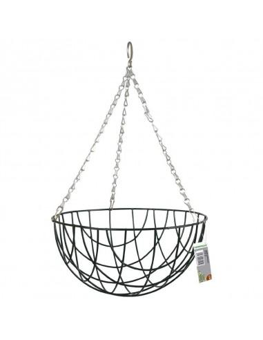 Basket intrecciato  cm 35 nero