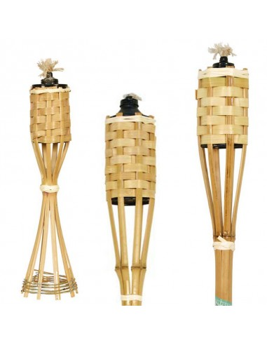 Torcia in bamboo naturale cm 150